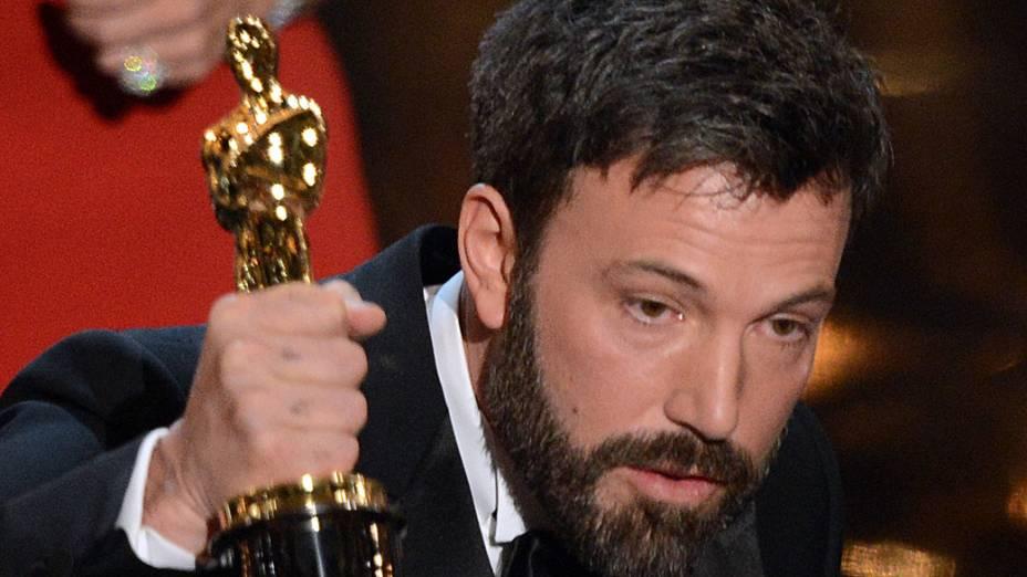 Argo, de Ben Affleck, leva o Oscar de Melhor Filme durante a cerimônia de entrega dos Oscar, no Teatro Dolby, em Los Angeles