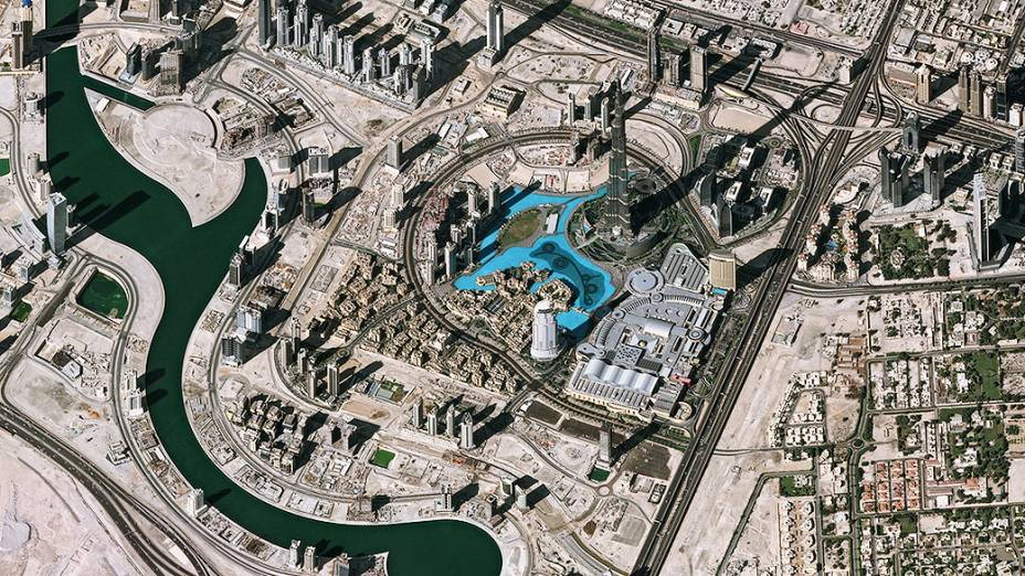 <p>Vista aérea do centro de Dubai</p>