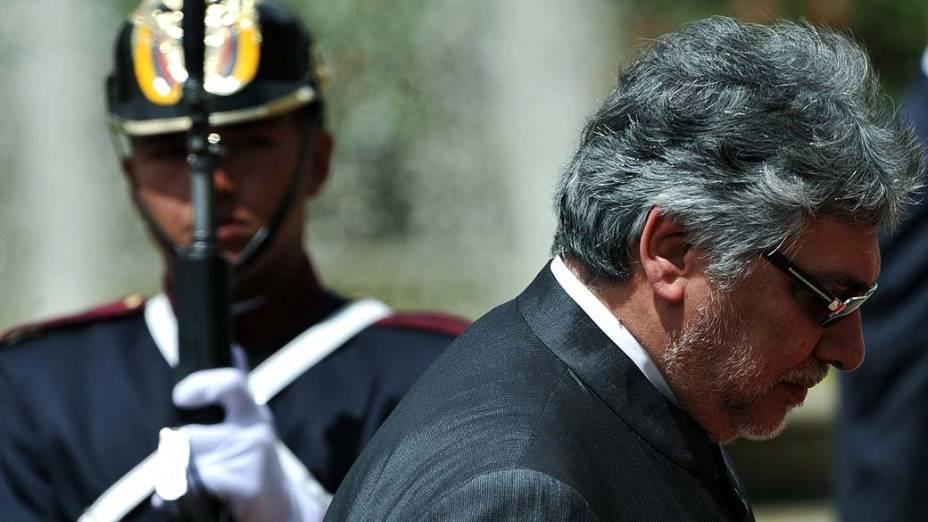 Presidente Fernando Lugo em Bogotá, em 2012