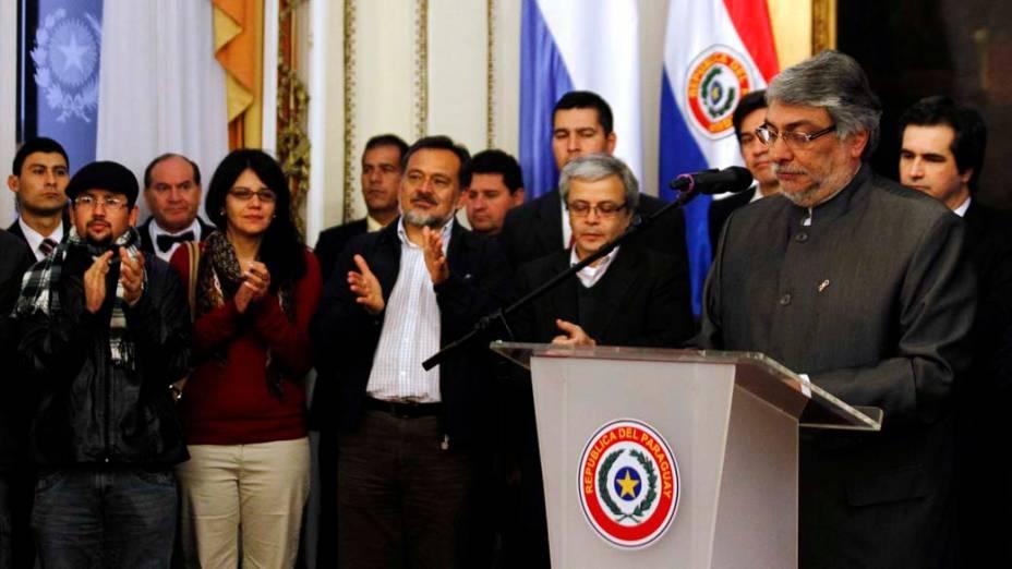 Discurso de Fernando Lugo após ser deposto em Assunção