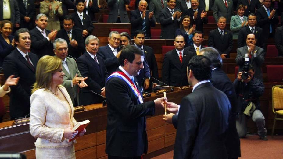 Cerimônia que oficializa Federico Franco como novo presidente paraguaio
