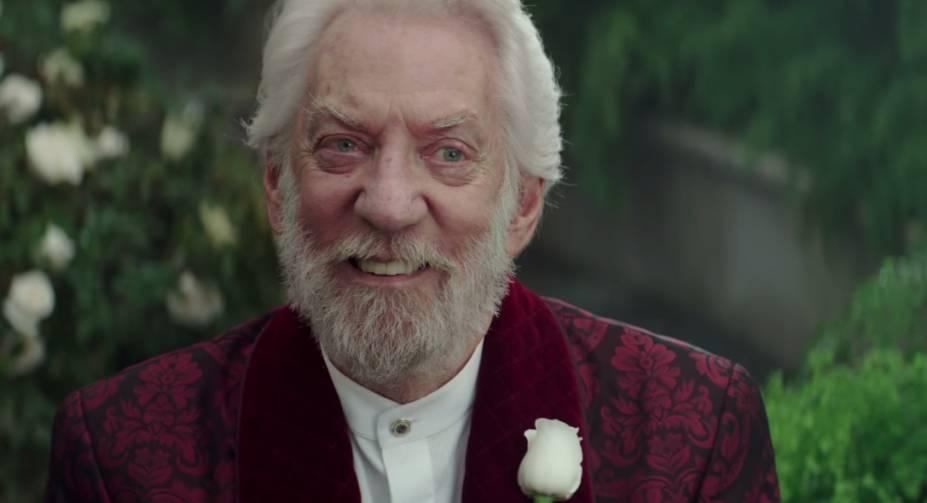 Presidente Snow (Donald Sutherland) em Jogos Vorazes: A Esperança - O Final