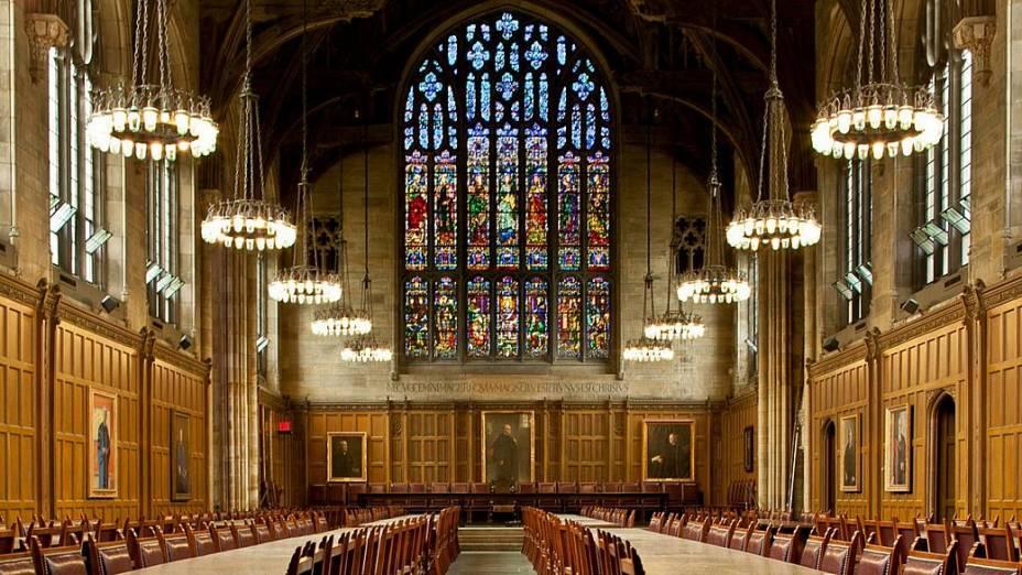 Procter Hall, imponente salão de jantar da Universidade Princeton