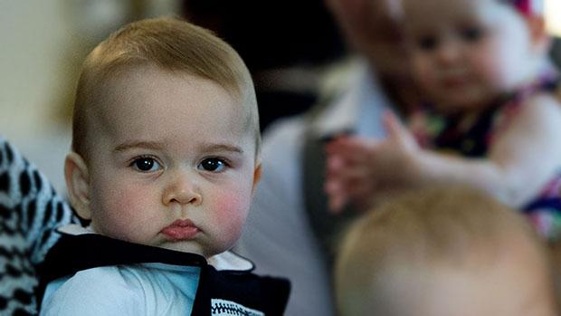 Príncipe George, durante uma reunião informal de seus pais na sede do governo da cidade de Wellington, a capital da Nova Zelândia