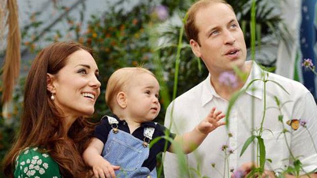 Príncipe George, William e Kate no Museu de História Natural, em Londres