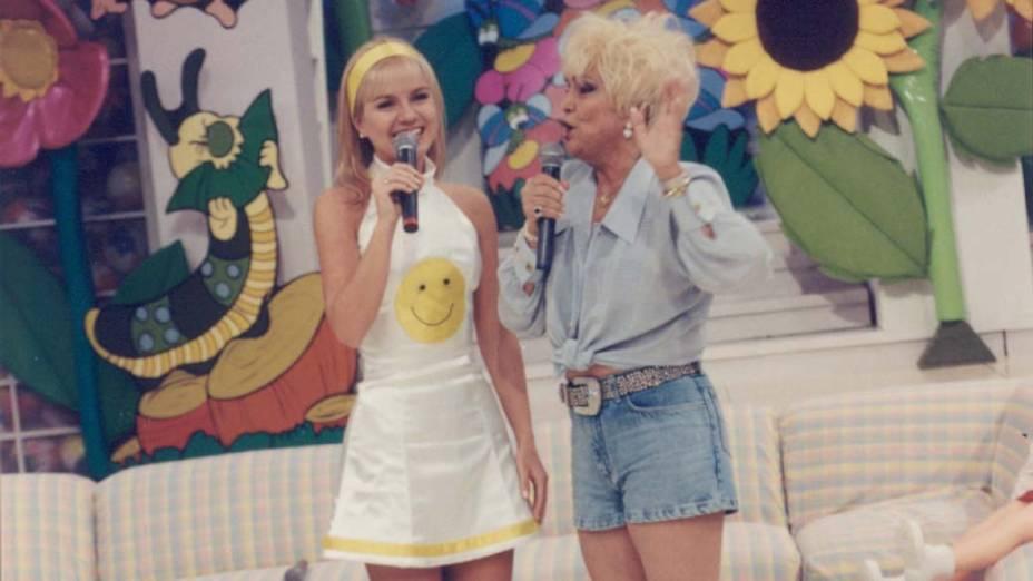 Hebe Camargo entrevista Eliana, em 1986