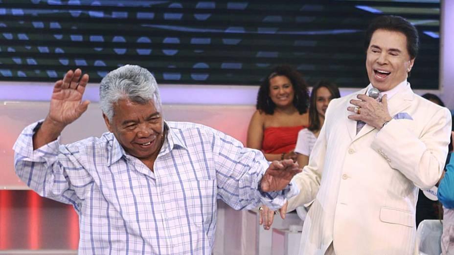 Silvio Santos com Roque, em 2011