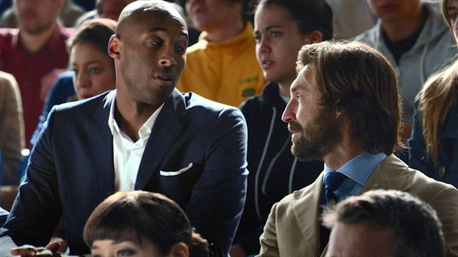 Kobe Bryant e Pirlo em anúncio da Nike para a Copa do Mundo