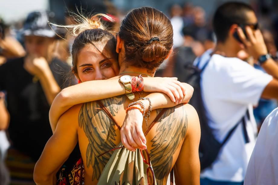 Público durante o primeiro dia do Festival Lollapalooza 2016, em São Paulo