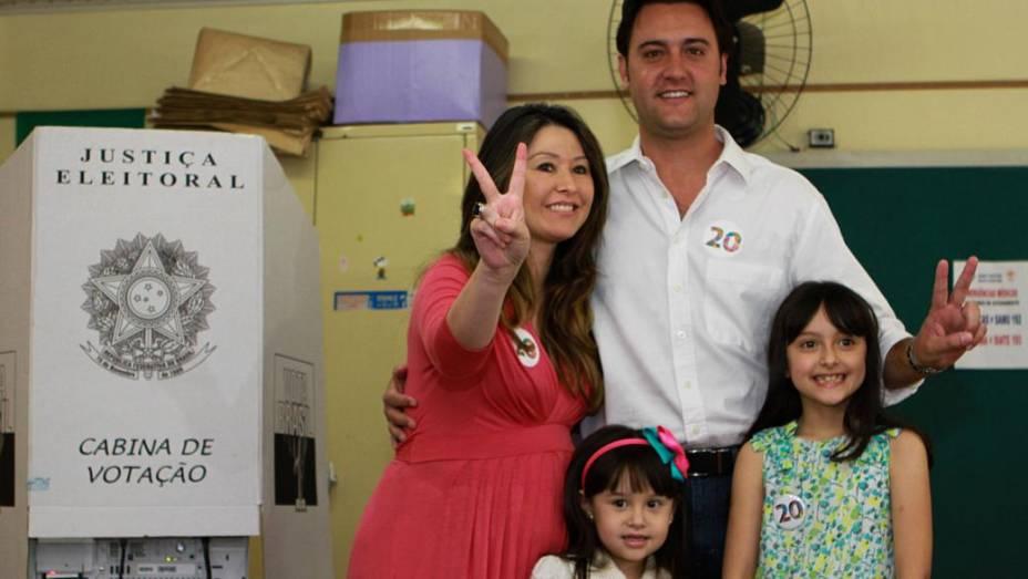 Ratinho Junior (PSC) vota em Curitiba