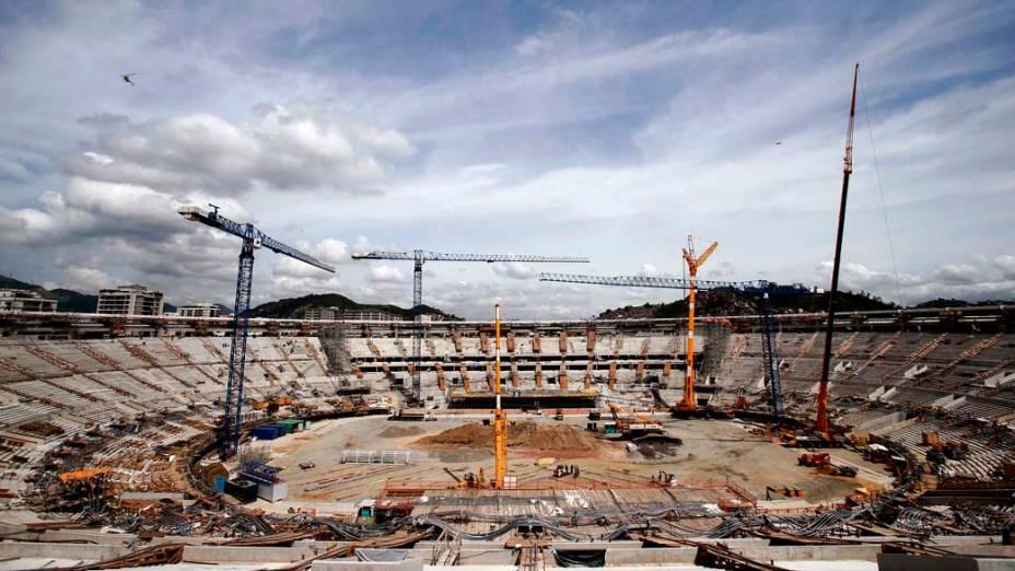 Reforma do Estádio do Maracanã durante preparativos para a Copa 2014 (08/11/2012)