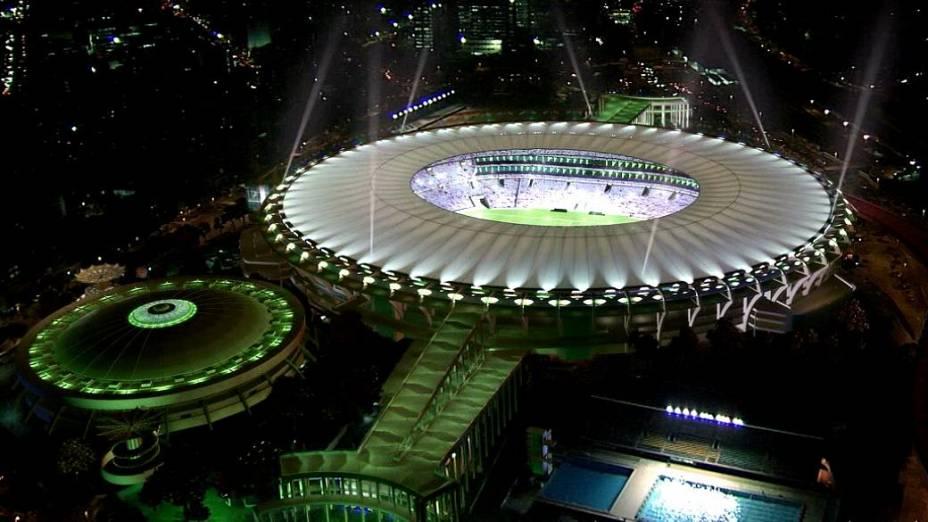 Reprodução noturna mostra como deve ficar a iluminação do Maracanã