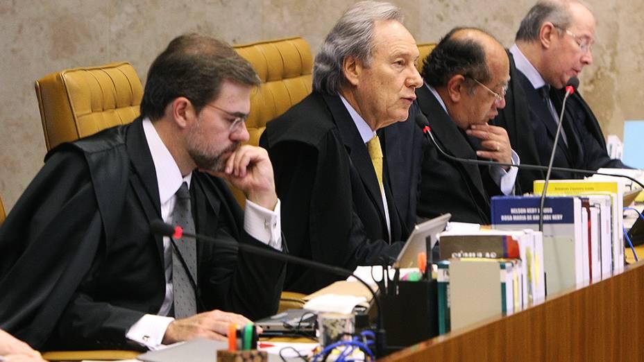 Ministro do Supremo Tribunal Federal (STF), Ricardo Lewandovisk durante julgamento do mensalão, em 05/09/2012
