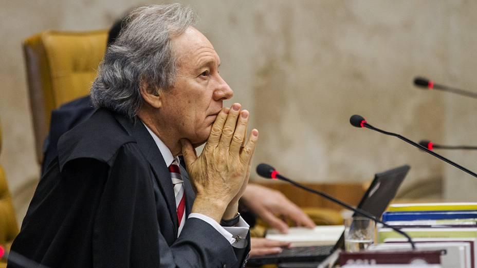 Ministro do Supremo Tribunal Federal (STF), Ricardo Lewandovisk durante julgamento do mensalão, em 12/09/2012
