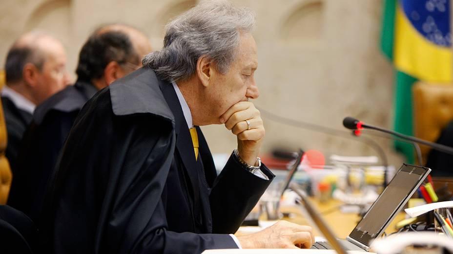Ministro do Supremo Tribunal Federal (STF), Ricardo Lewandovisk durante julgamento do mensalão, em 03/10/2012