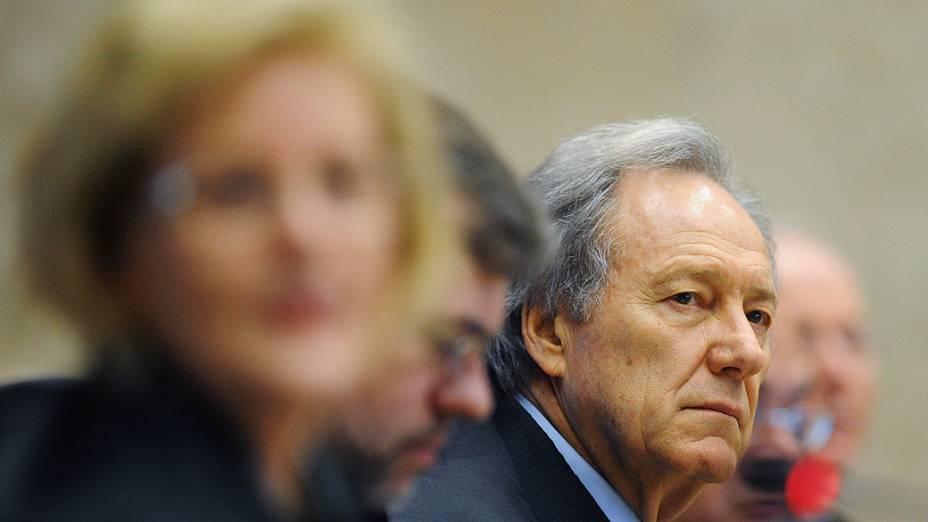 O ministro Ricardo Lewandowski durante retomada do julgamento do mensalão, em 22/10/2012