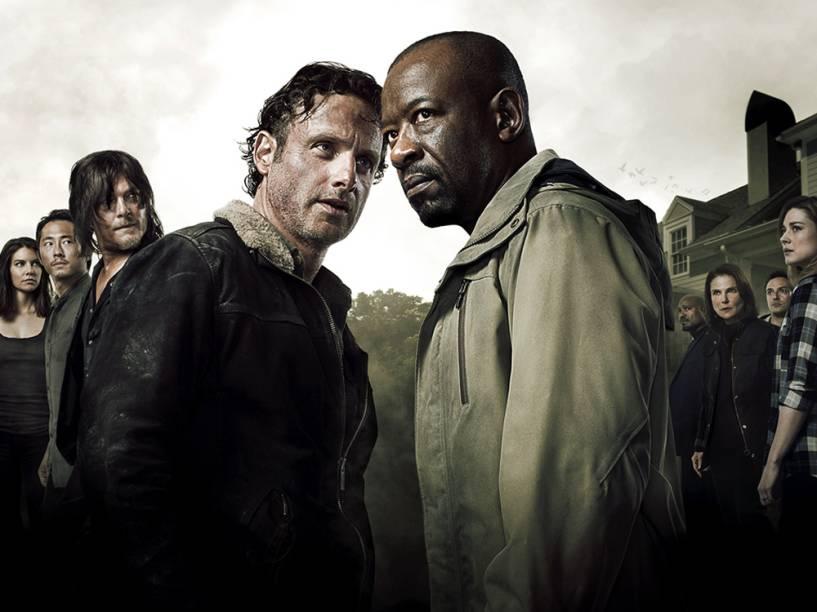 Em destaque, Rick (intepretado por Andrew Lincoln) e Morgan (Lennie James), as opiniões opostas de 'The Walking Dead'