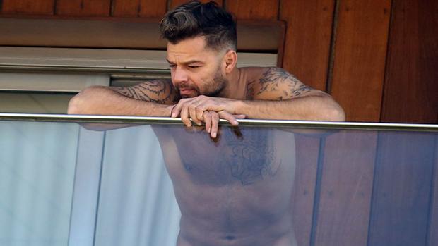 O cantor Ricky Martin no Rio de Janeiro