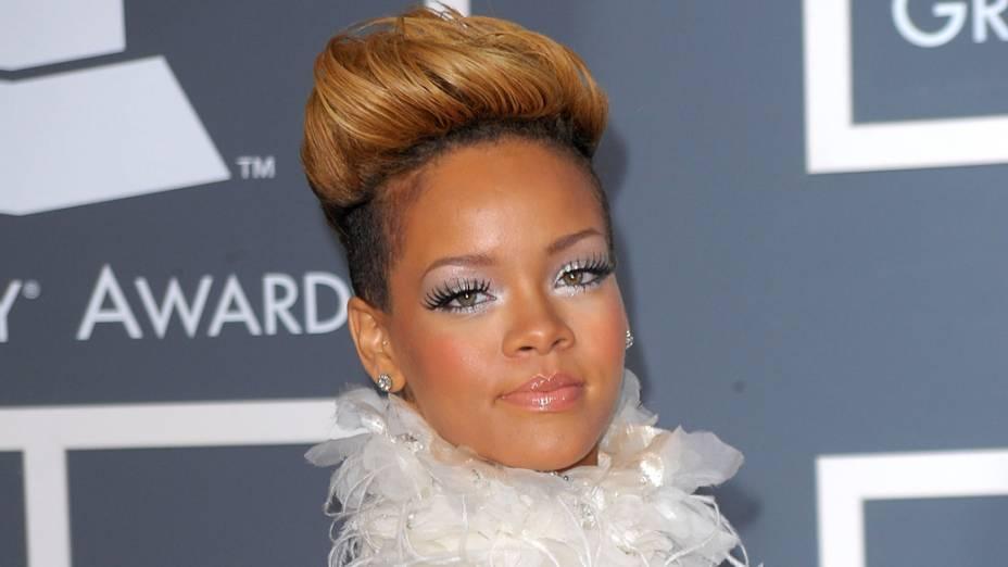 Rihanna na 52ª edição do Grammy Awards em Los Angeles, na Califórnia