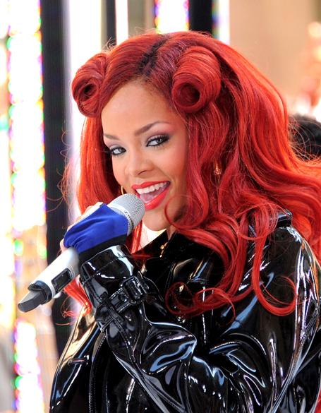 Rihanna durante apresentação em Nova York, em maio de 2011