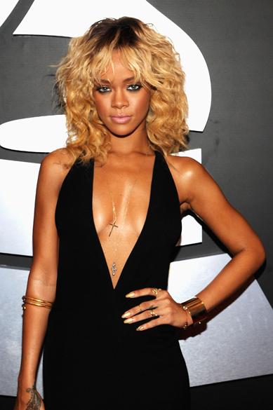 A cantora Rihanna na 54ª edição do Grammy Awards em Los Angeles, na Califórnia