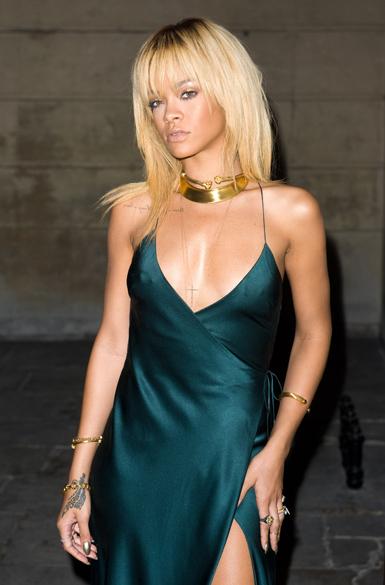 Rihanna no desfile de Stella McCartney em Londres