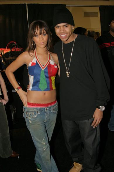 Rihanna e Chris Brown, em 2005