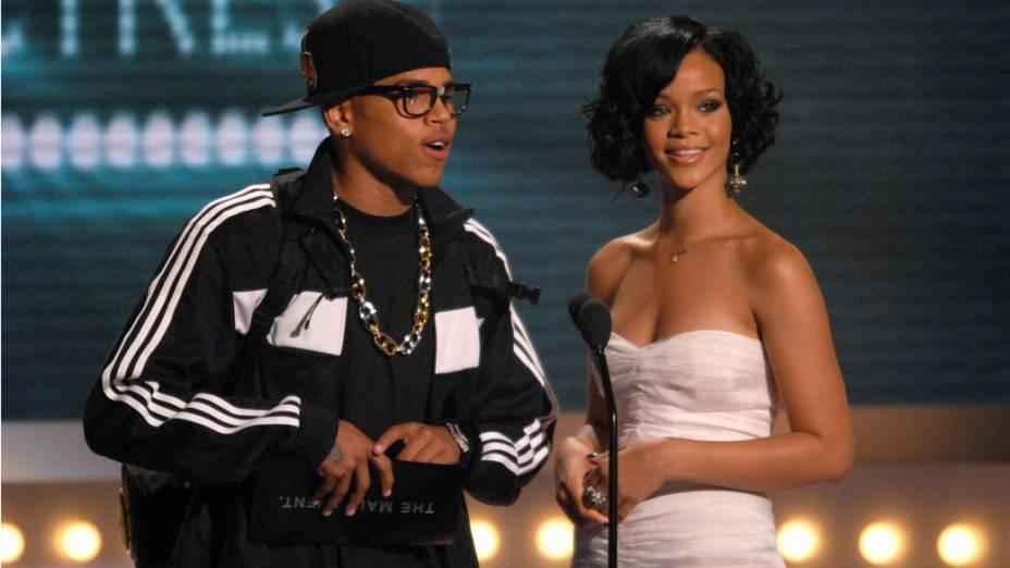 Rihanna e Chris Brown no BET Awards 2007