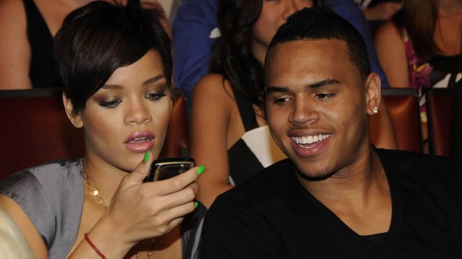 Rihanna e Chris Brown no MTV Movie Awards 2008