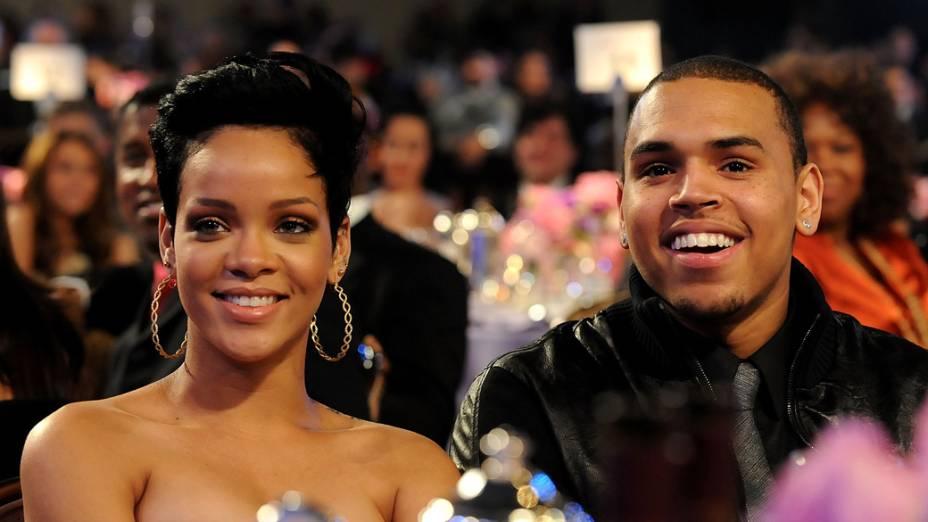 Rihanna e Chris Brown no Grammy 2009