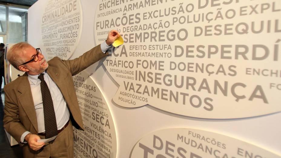 O diretor do Centro de Informações da ONU no Rio de Janeiro (Unic Rio), Giancarlo Summa, em evento da Rio+20