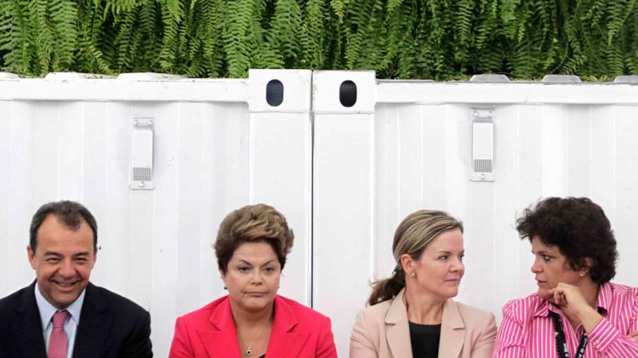 Sergio Cabral, Dilma Rousseff, Gleisi Hoffmann e Izabella Teixeira na abertura da Rio+20, no Rio de Janeiro