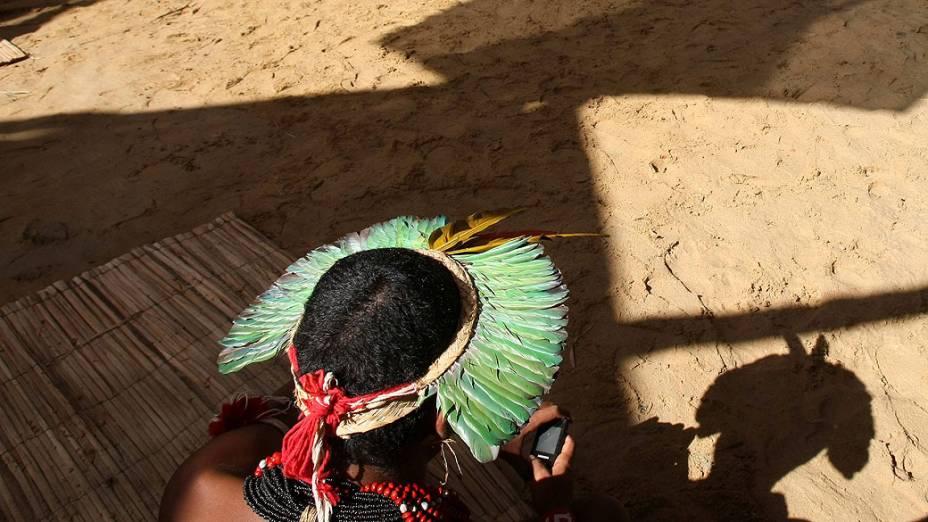Vista da primeira reunião realizada pelos índios de todo o mundo, na aldeia Kari-Oca. Indígenas apresentarão propostas estratégicas na Rio+20