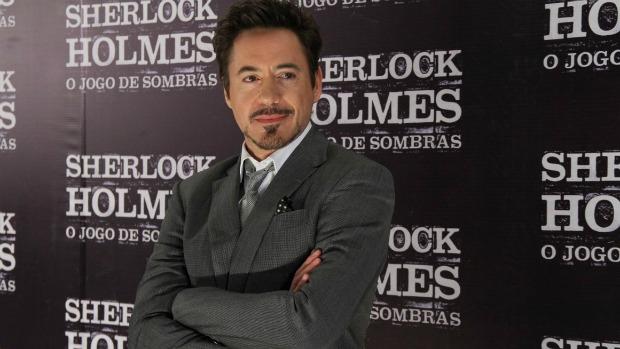 O ator Robert Downey Jr na pré-estreia do filme Sherlock Holmes: o Jogo de Sombras, no Rio de Janeiro