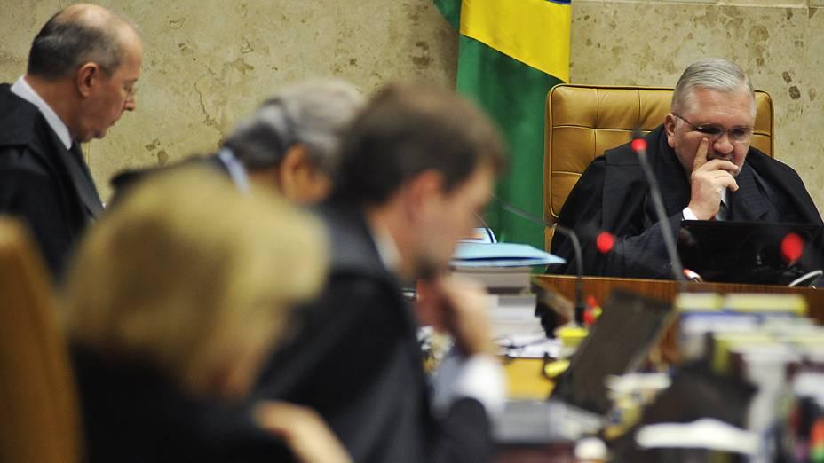 Roberto Gurgel durante o julgamento do mensalão, em 17/09/2012