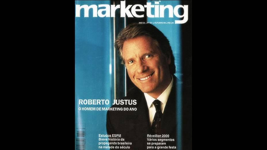 Roberto Justus foi escolhido como o homem do ano em 1999