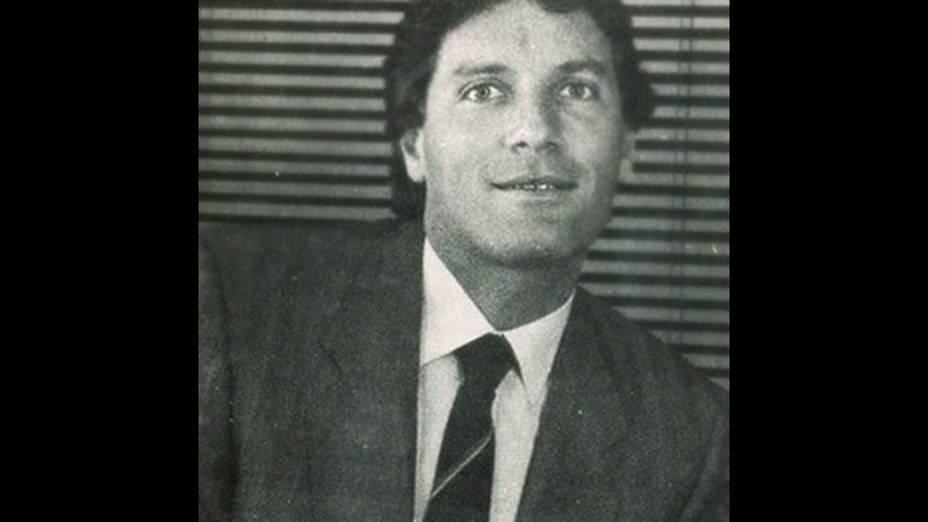 Nesta imagem de 1984, Roberto Justus tinha 29 anos e começava a se destacar no mundo dos negócios