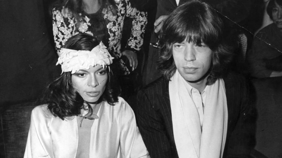 Mick e Bianca Jagger em 1975