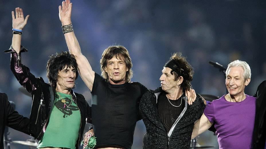 Rolling Stones em show no Super Bowl na cidade de detroit