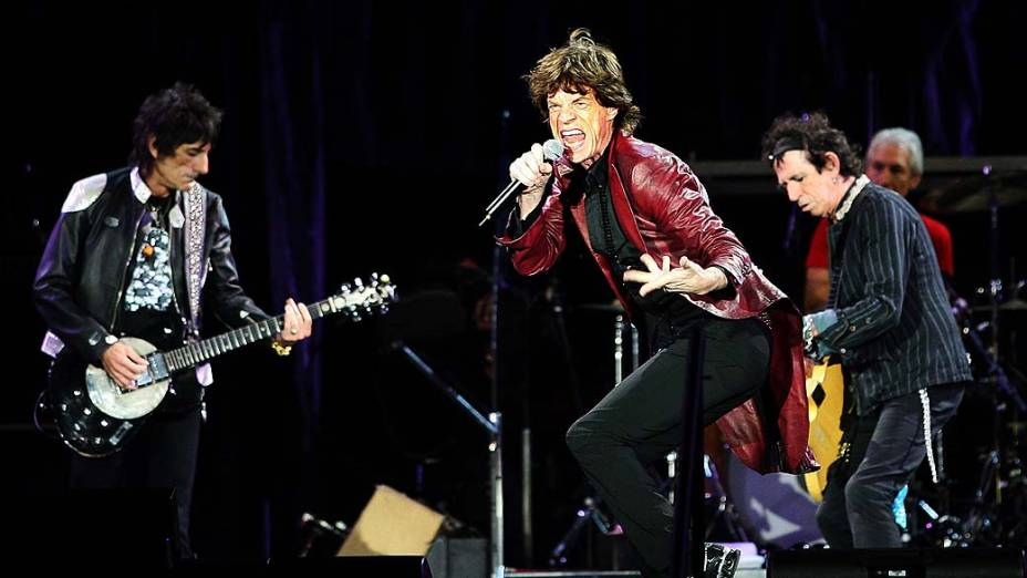 Os Rolling Stones durante show de 2007 na Dinamarca