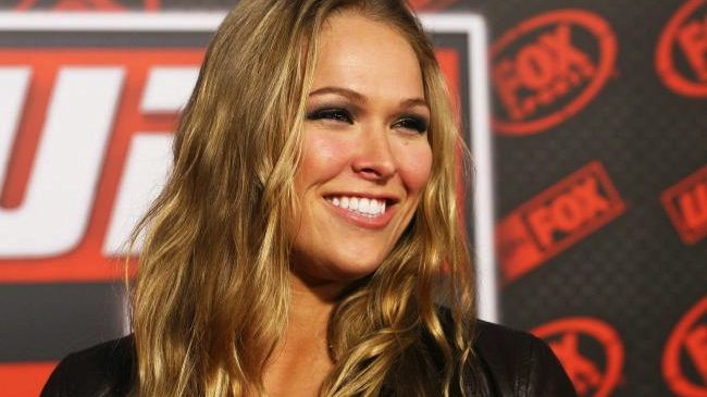 A lutadora Ronda Rousey em entrevista coletiva