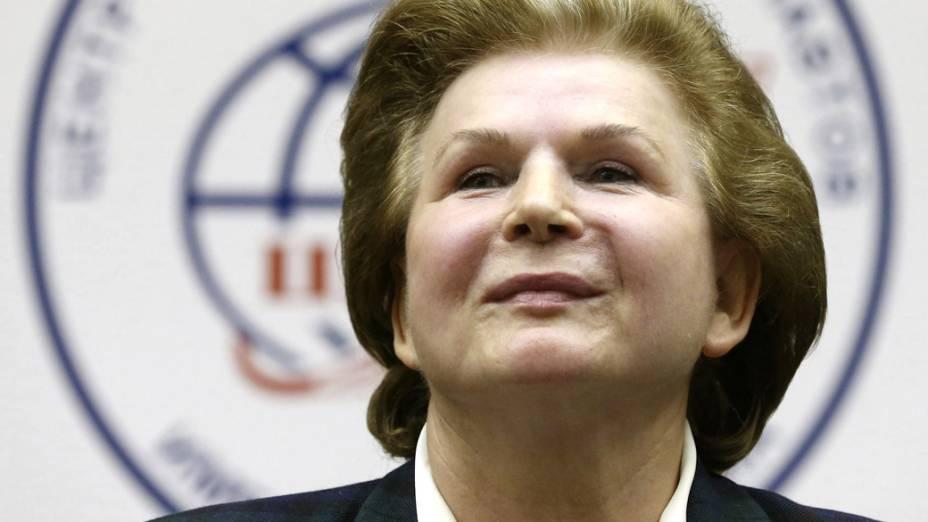 <p>A russa Valentina Tereshkova, primeira mulher a ir ao espaço</p>