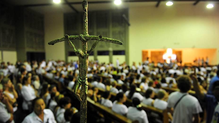 Missa em memória das vítimas do incêndio, em Santa Maria