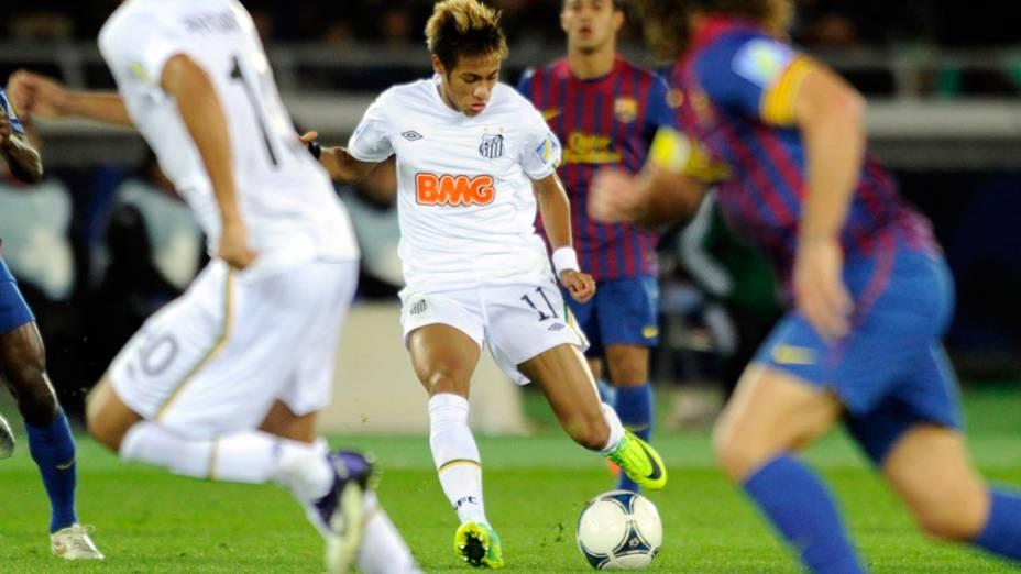 O santista Neymar, durante o jogo final do Mundial de Clubes, no Japão - 18/12/2011