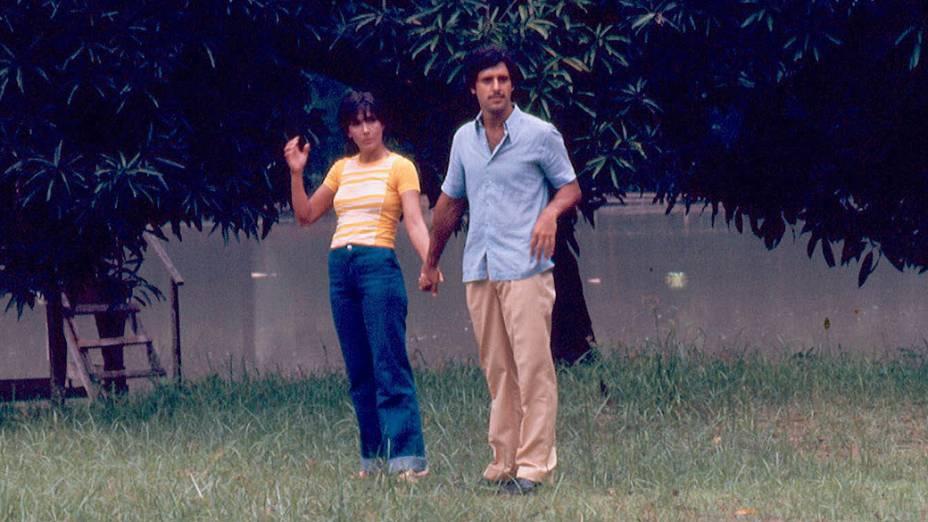 "Yoná Magalhães e Antonio Fagundes na novela ""Saramandaia"", da Rede Globo"
