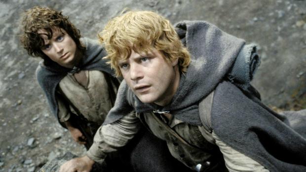 Sean Astin, como Sam Gamgee, na trilogia O Senhor dos Anéis<br><br>