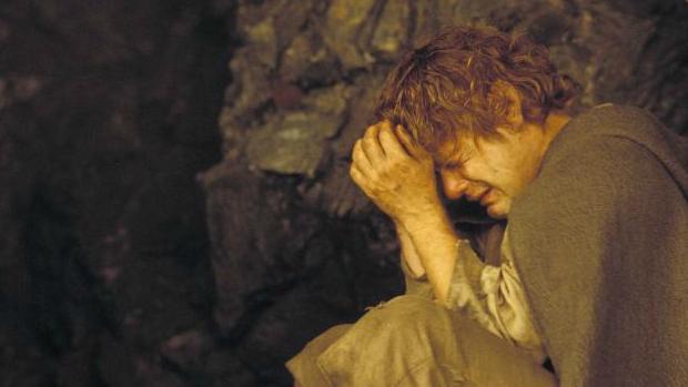 Sean Astin, como Sam Gamgee, na trilogia O Senhor dos Anéis