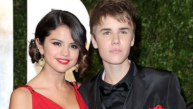 Selena Gomez e Justin Bieber na festa do Oscar 2011