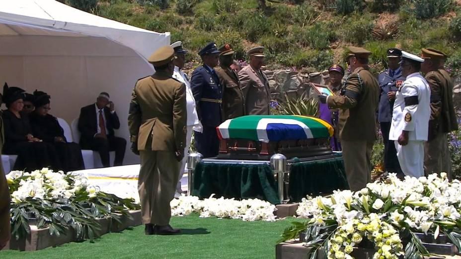 O sepultamento de Nelson Mandela em Qunu, África do Sul