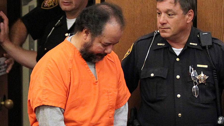 Ariel Castro, de 53 anos, durante audiência em que se declarou inocente de acusações relacionadas ao sequestro e estupro de três jovens em Cleveland, no estado americano de Ohio